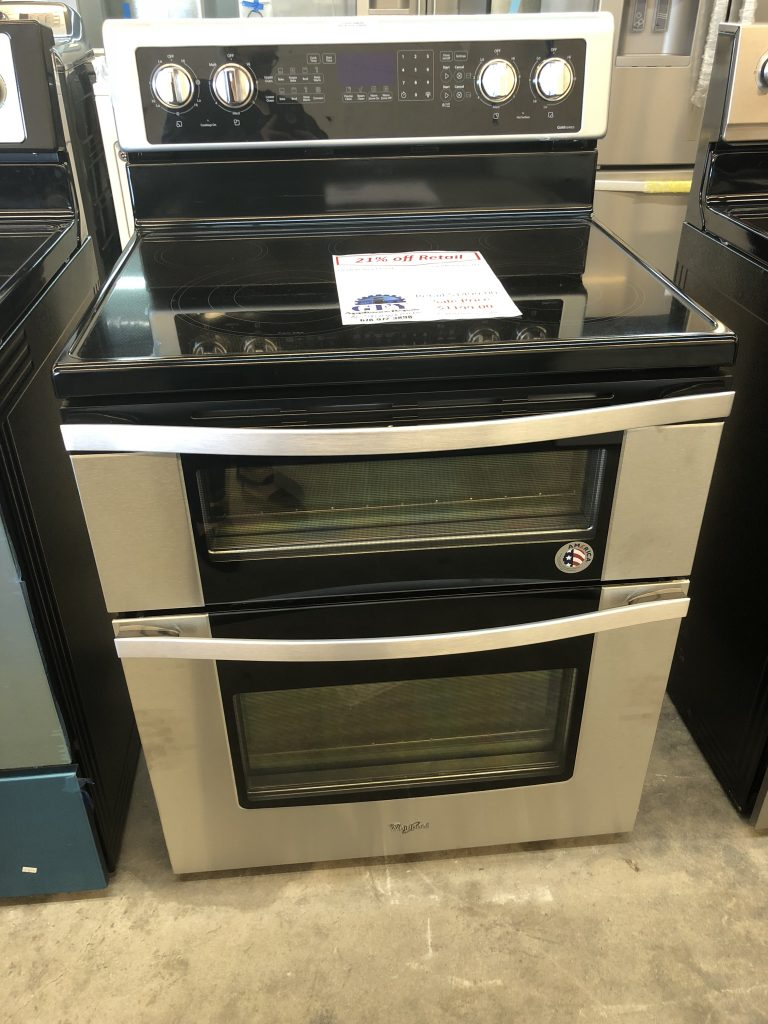 Whirlpool Oven Symbolen Whirlpool Double Oven Electric Range Ss - Gfy Appliance