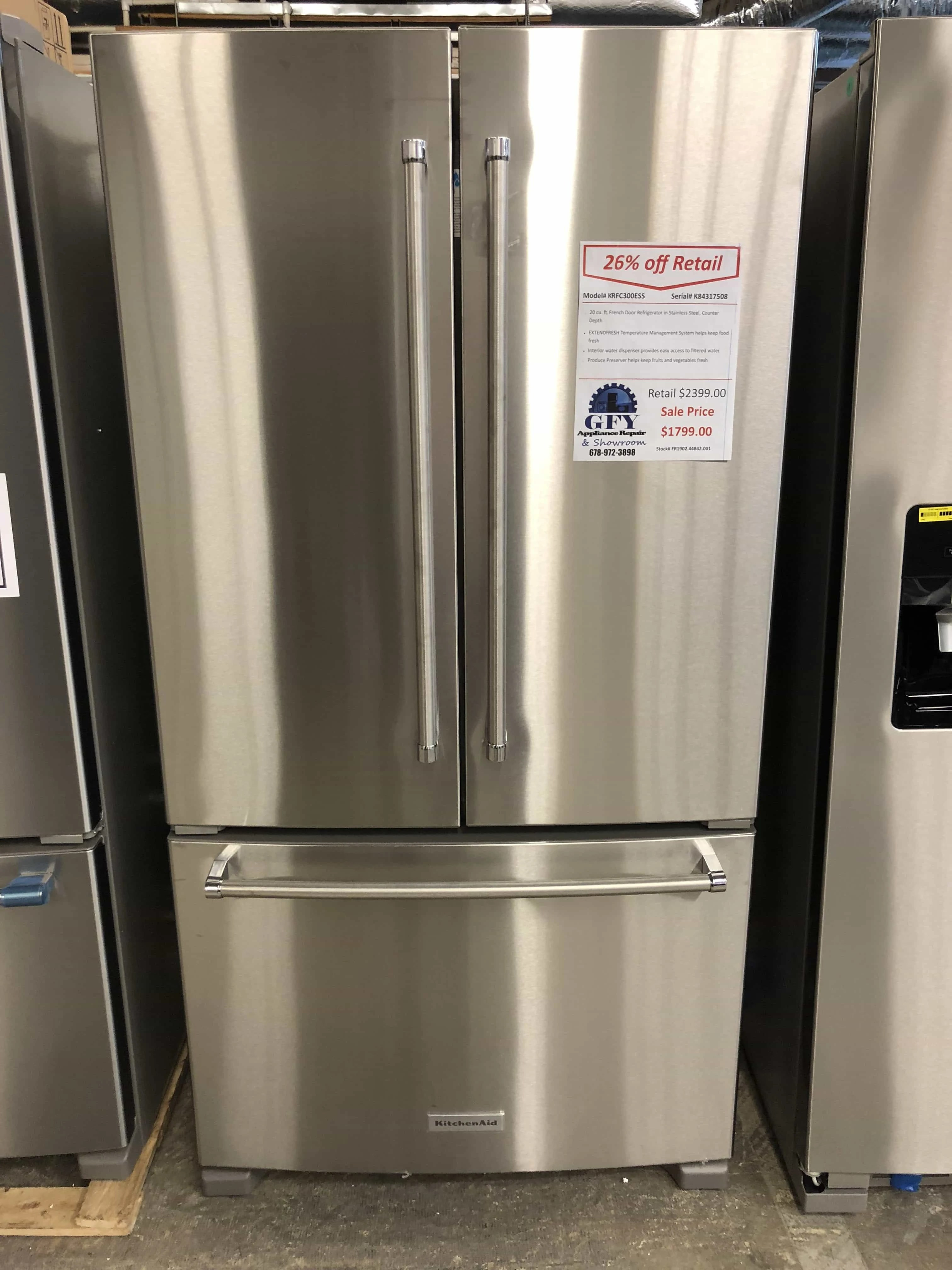 Kitchenaid Krfc300ess Kitchenaid Refrigerator French Door Prices Kitchen Appliances