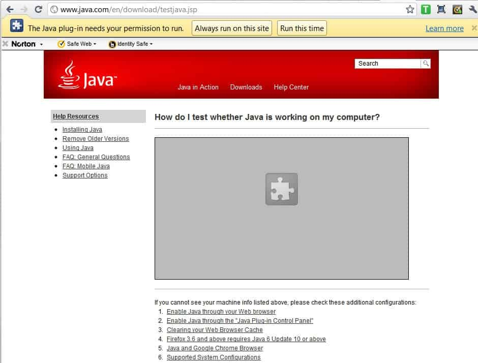 Java Plugin For Firefox Chrome Gets Per-site Permissions To Run Quicktime, Java