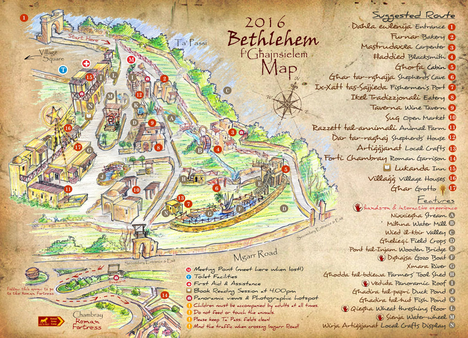 Map hints to what Bethlehem fGhajnsielem 2016 will offer
