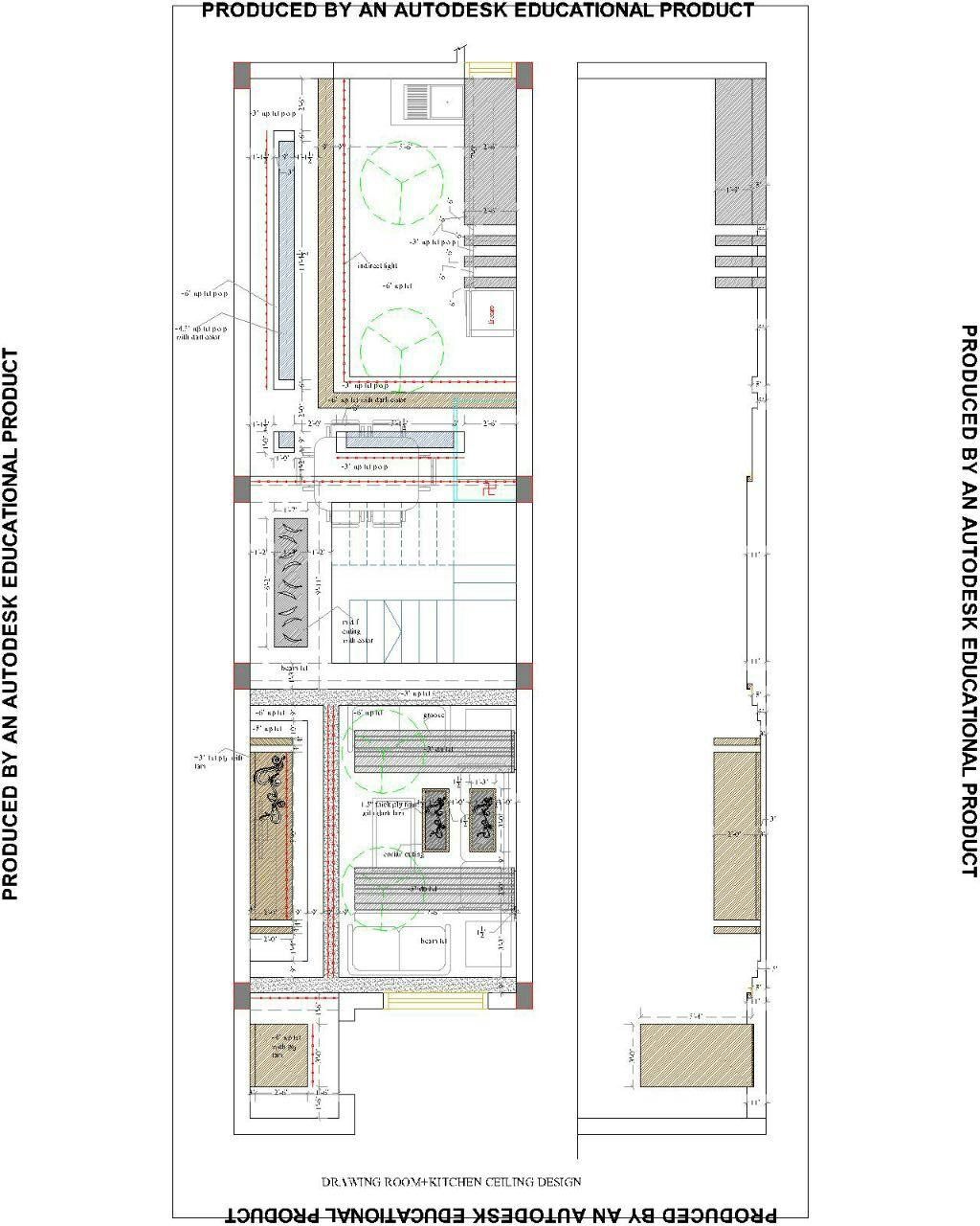 Drawing A Room Plan Drawing Room Kitchen Ceiling Plan Gharexpert