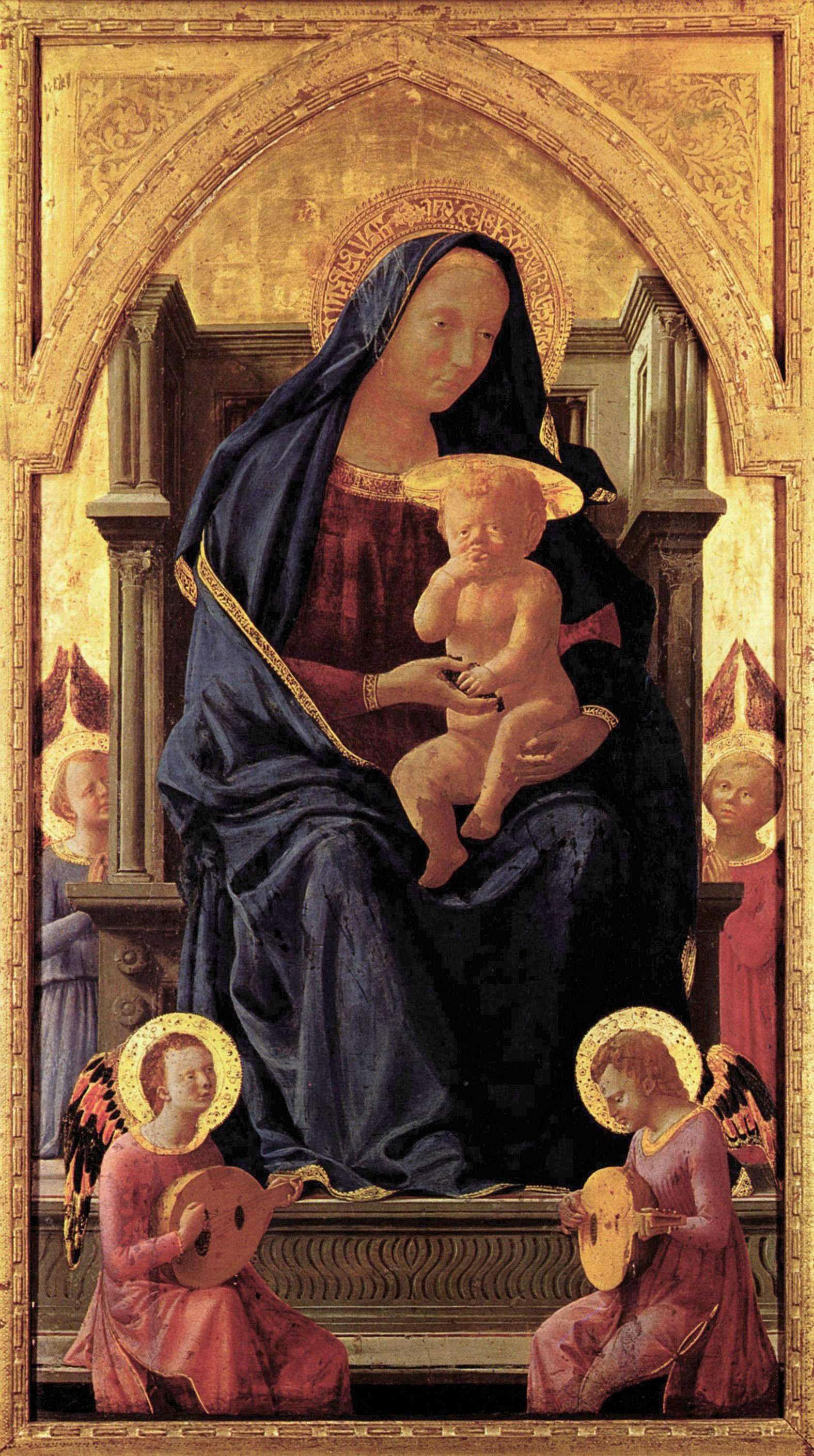 Мадонна с младенцем и четырьмя ангелами