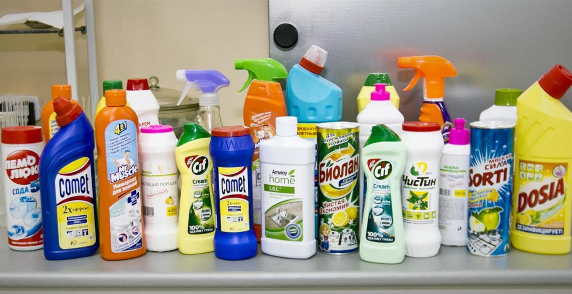 Какие бывают  чистящие средства?