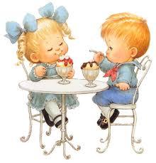 deti i maneri za stolom