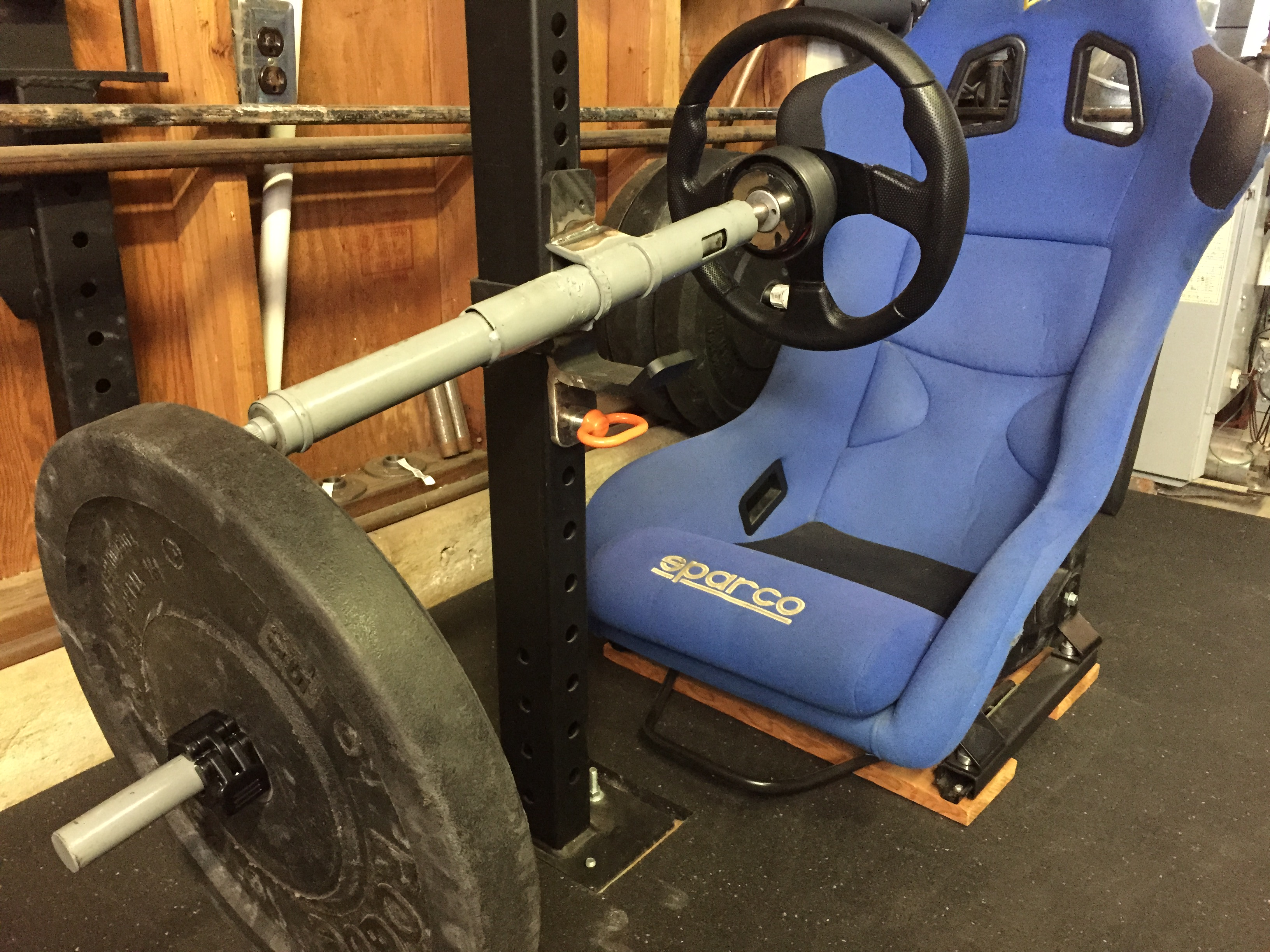 Garage Gym With Car Garage Gym Racing Exercise Steering Wheel Ghidinelli