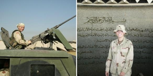 Melissa Thurber in Iraq