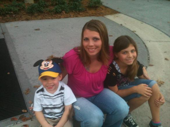 Melissa Thurber with Blake, left, and Delanie.