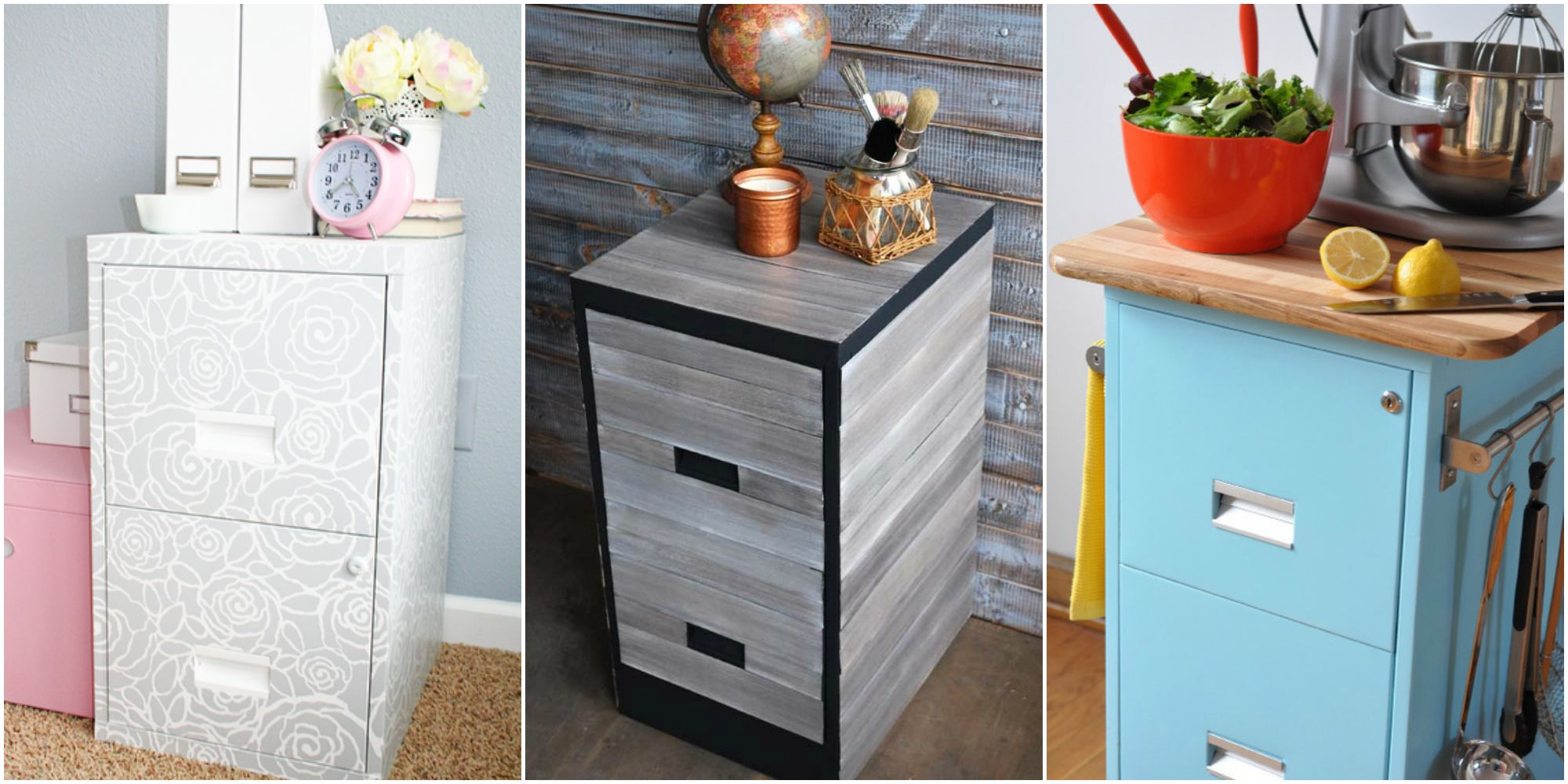 9 Filing Cabinet Makeovers