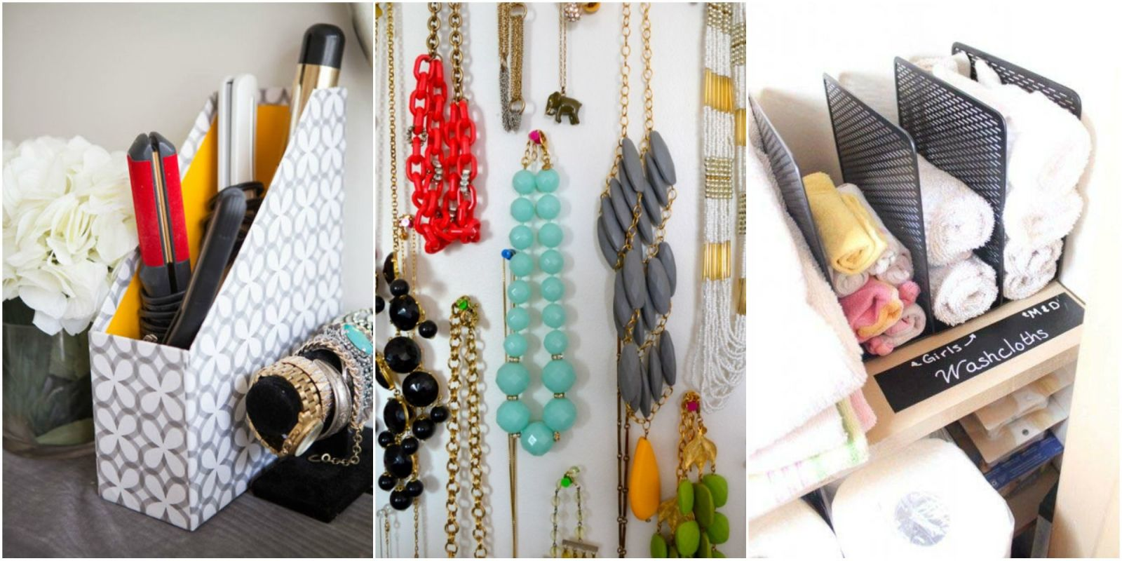 Use office supplies to organize your home office supplies organization hacks