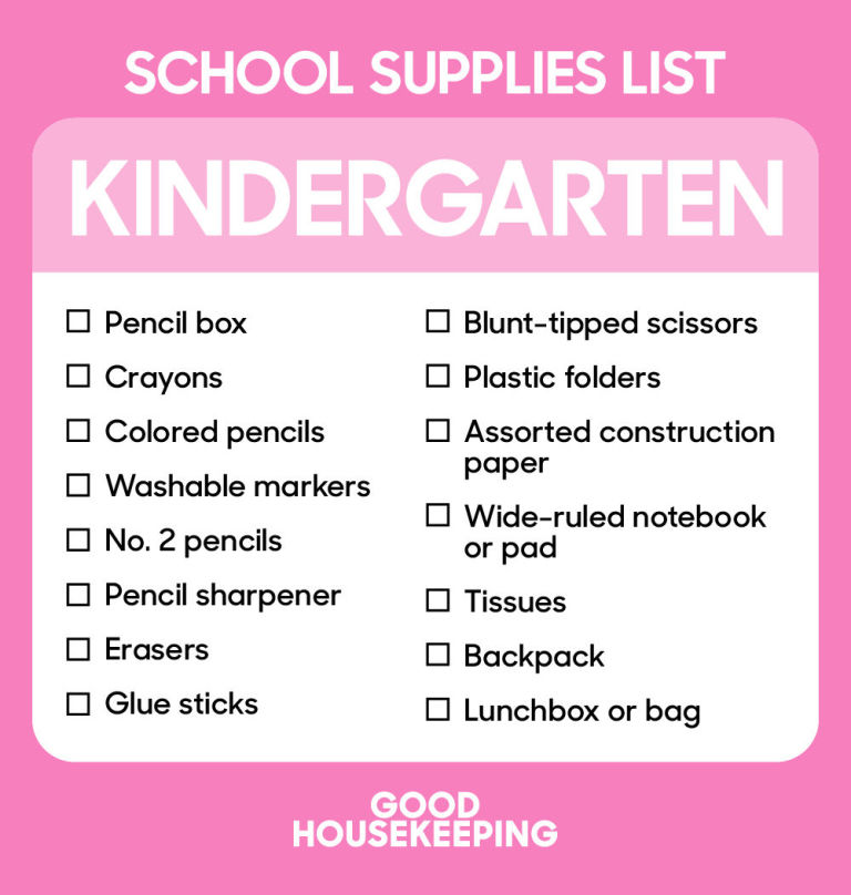 Back to School Supplies List - Best School Shopping Checklist - shopping lists