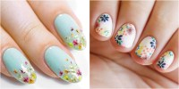 20 Flower Nail Art Design Ideas - Easy Floral Manicures ...