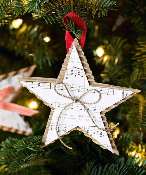 Homemade Christmas Star Ornament - DIY Christmas Ornaments - christmas star decorations