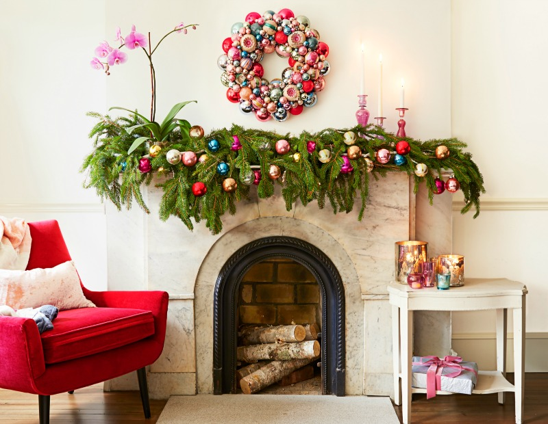 Holiday Mantel Decor Ideas - Christmas Mantel Decorations - christmas mantel decor