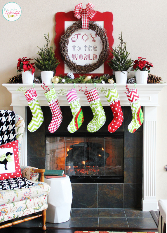 Christmas Mantel Ideas - How to Style a Holiday Mantel - christmas mantel decor