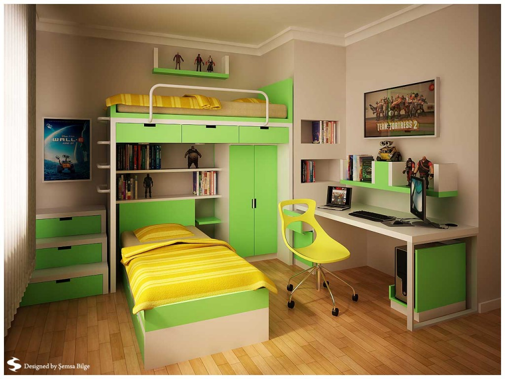 Cool Bedrooms For 2 Teenage Girls Green And Yellow With Minimalist Bookcase Teen Room By