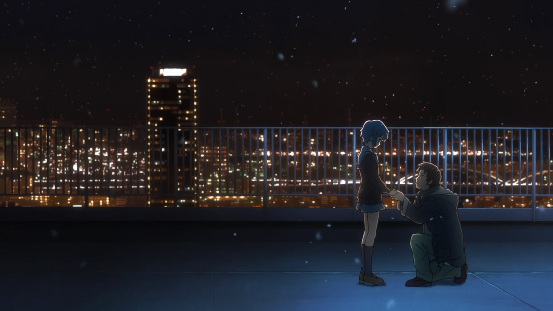 Boy Proposing Girl Hd Wallpaper Moments In Anime 2010 When God Is Away Kyon Won T Pray