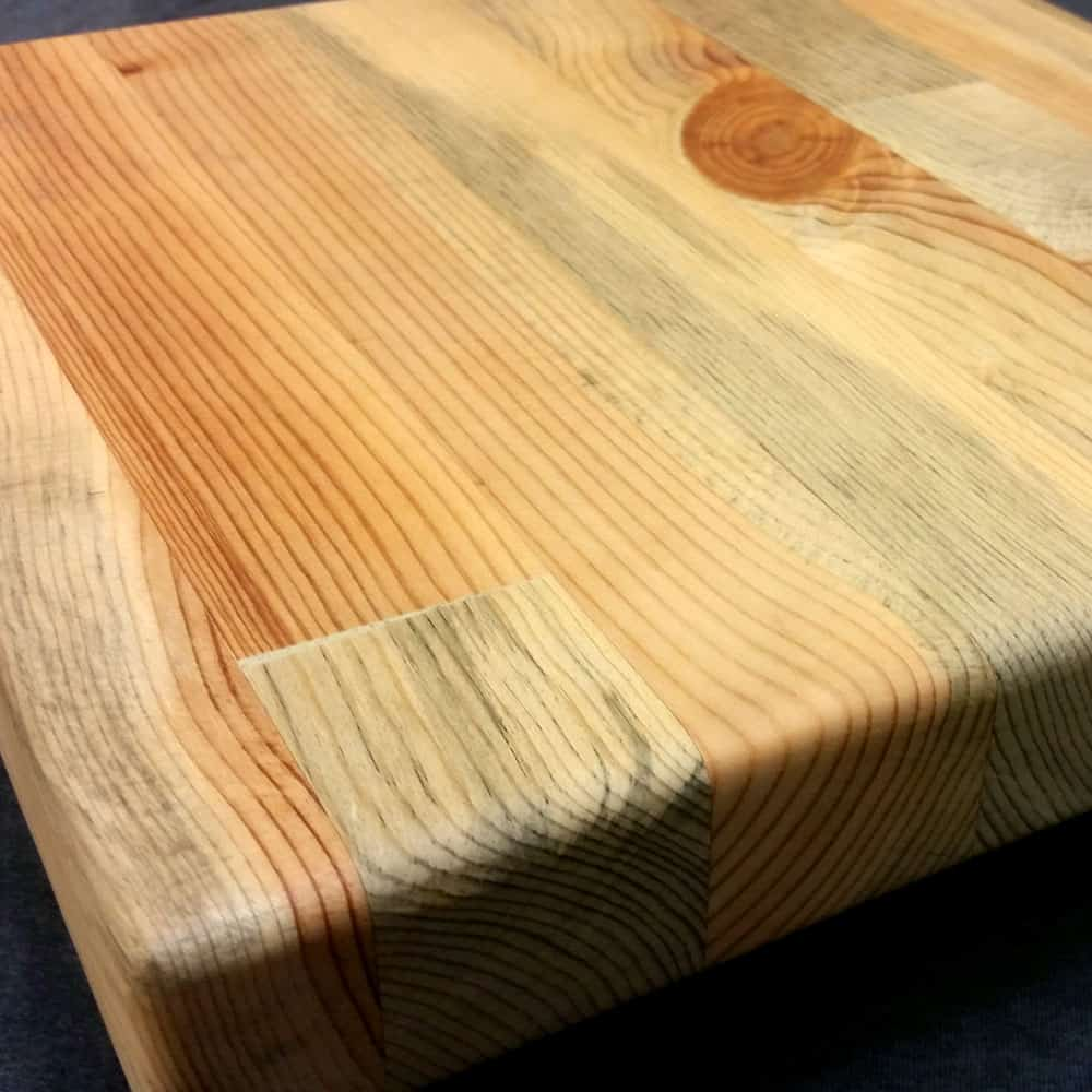 Blue Pine Butcher Block Solid Wood Surface