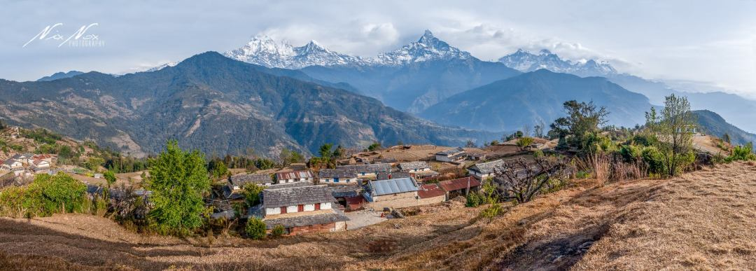 panorama of Dhampus Village by NIXNOX