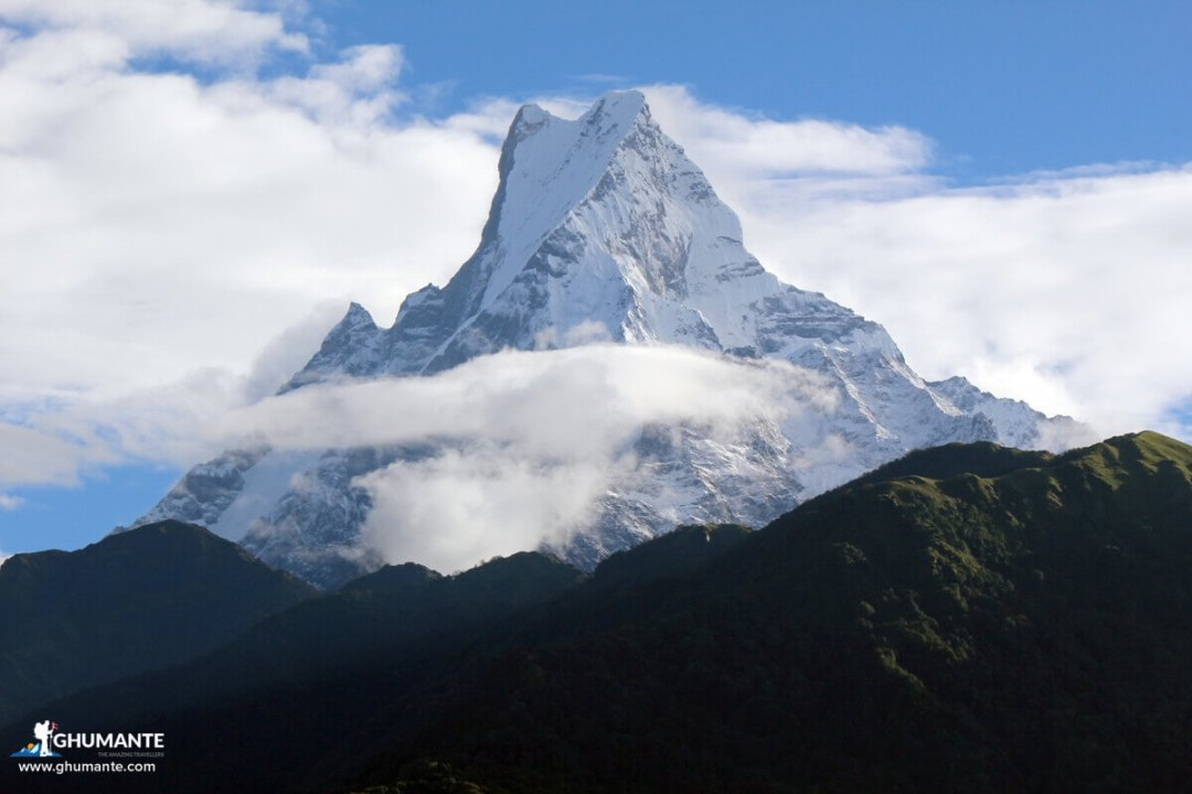Close-up View of Mt. Macchapuchre from Ghandruk