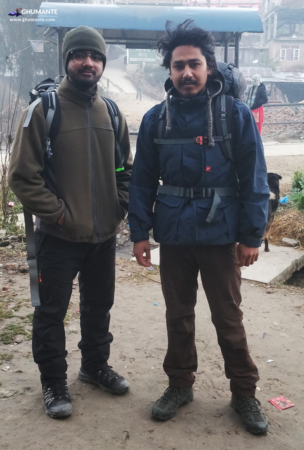 Getting ready to explore Shailung, at 28 Kilo, Dhulikhel.