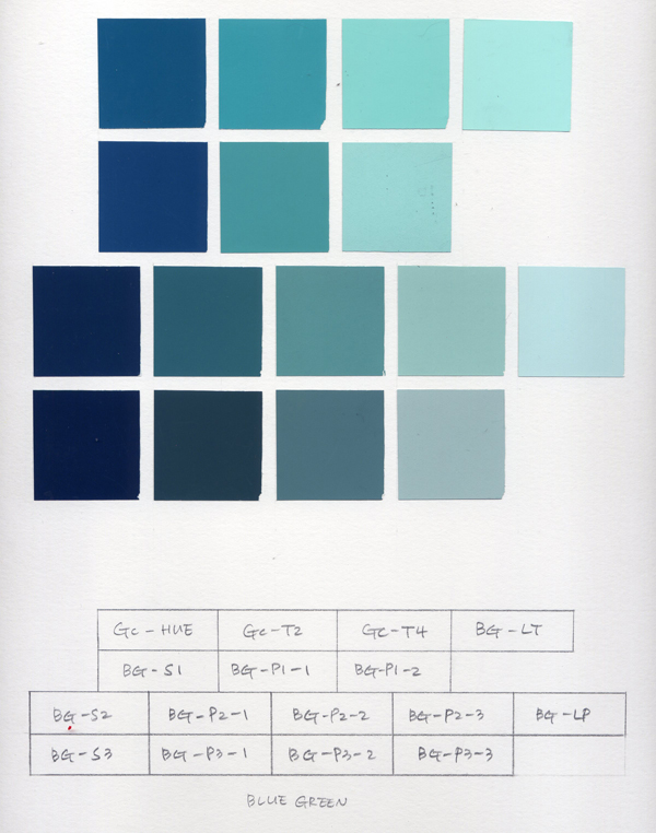 Monochromatic color planes Gia\u0027s color study