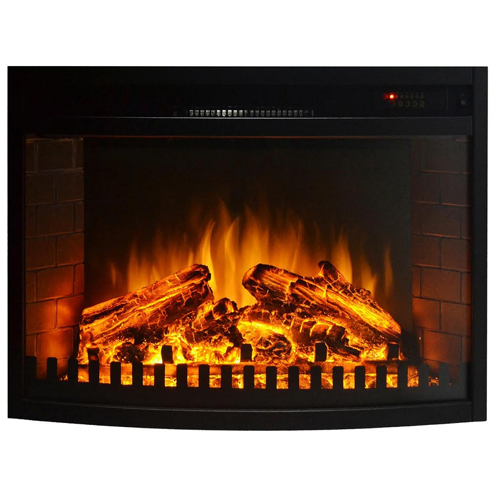 Space Heaters Fireplace 28 Inch Curved Ventless Electric Space Heater Built In Recessed Firebox Fireplace Insert