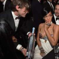 Rihanna Receives Custom-made Polish Vodka Belvedere Bottle