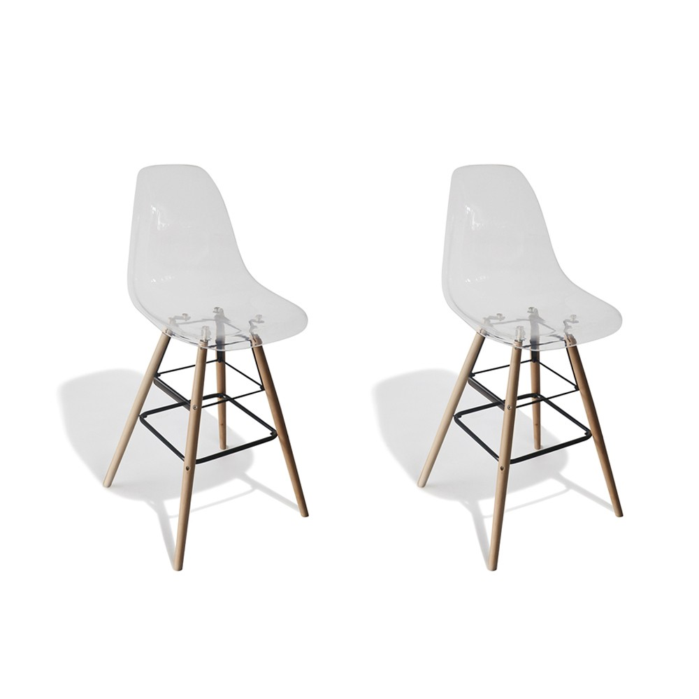 Tabouret De Bar Plastique Transparent Tabouret De Bar Charlotte Transparents X 2