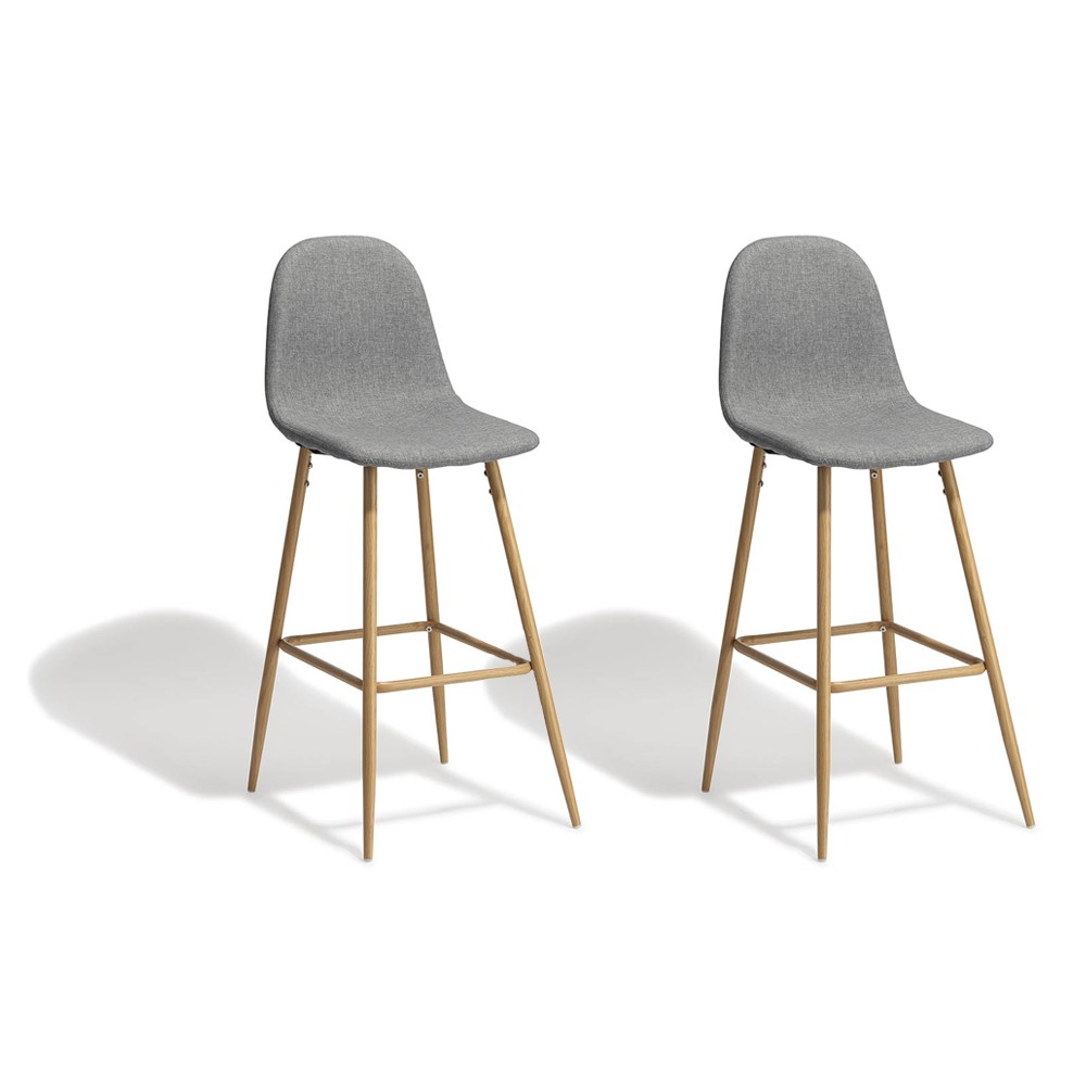 Tabourets Bar Lot De 2 Tabourets De Bar Gaby Gris Anthracite