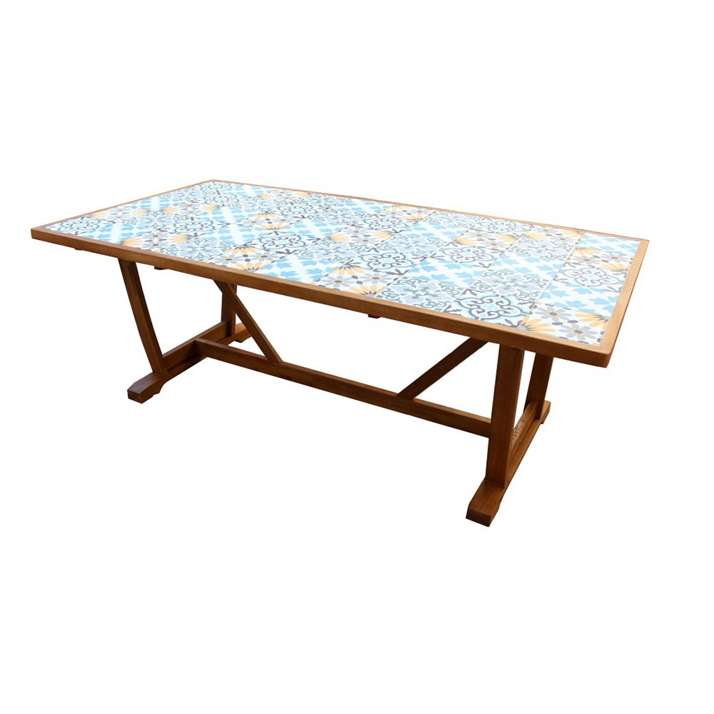Gifi Table Jardin Table De Jardin Rectangulaire Bilbao Bois Naturel 6 8 Places