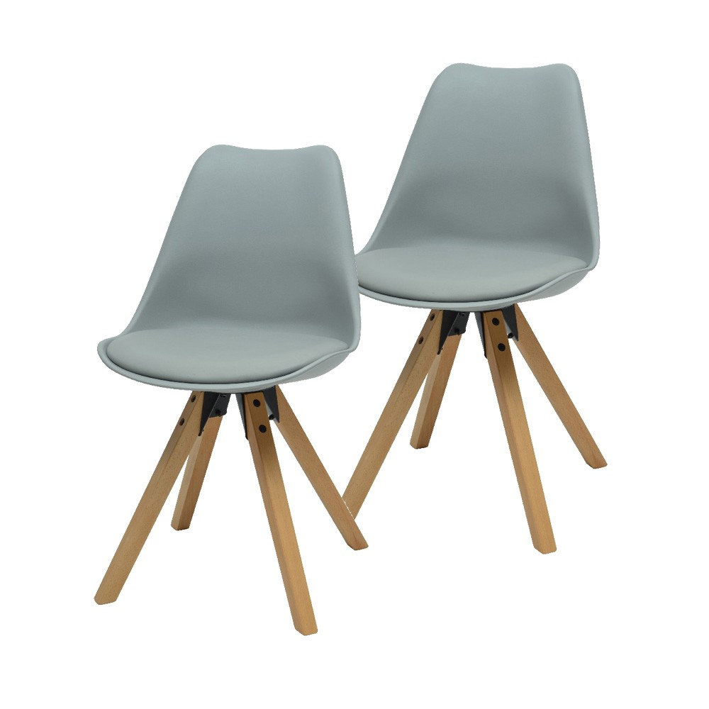 Chaise Scandinave Coque Grise Chaise Scandinave Grise Assise En Mousse X 2 Gifi