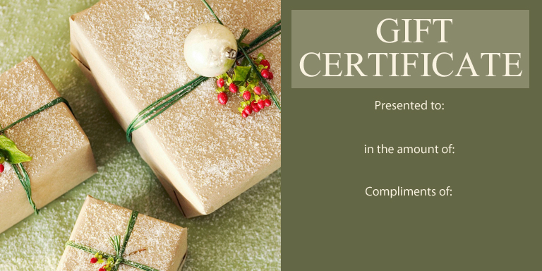 Personal Gift Certificate Templates Gift Certificate Factory