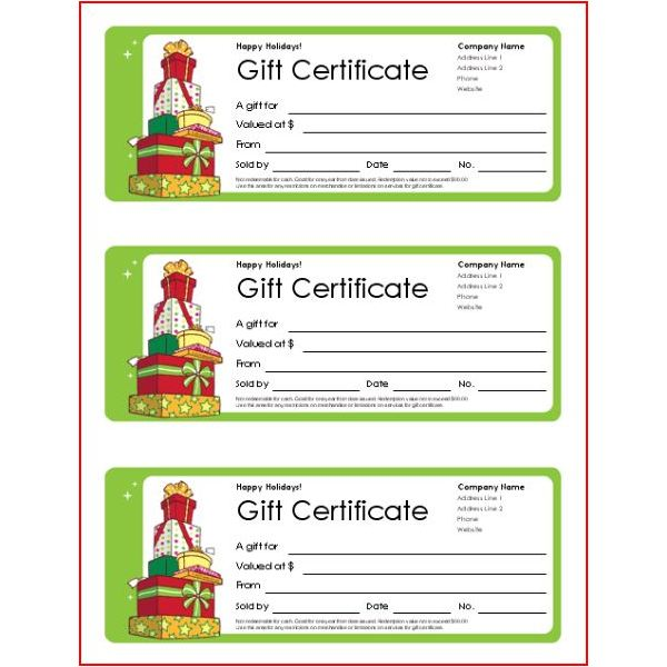 Small Business Gift Certificates Gift Certificate Templates