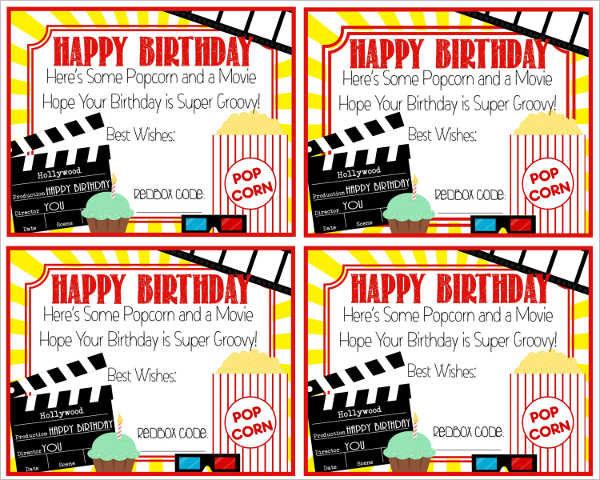 Beautiful Movie Gift Certificate Templates Gift Certificate