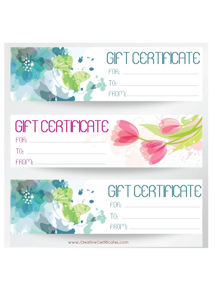 Summer Gift Certificate Templates Gift Certificate Templates