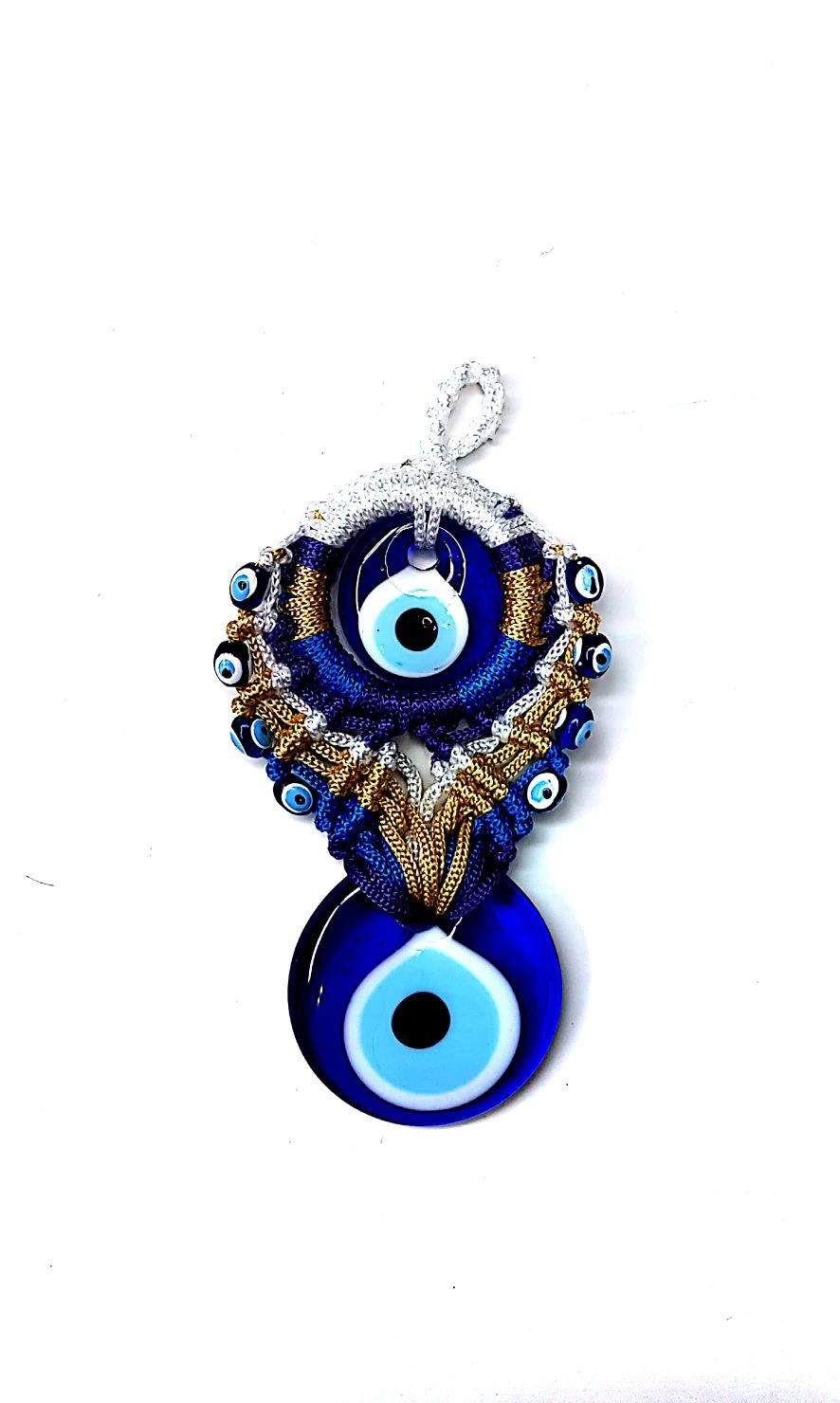 Ceramic Pendant Light Mosaic Lamp | Turkish Evil Eye (35)