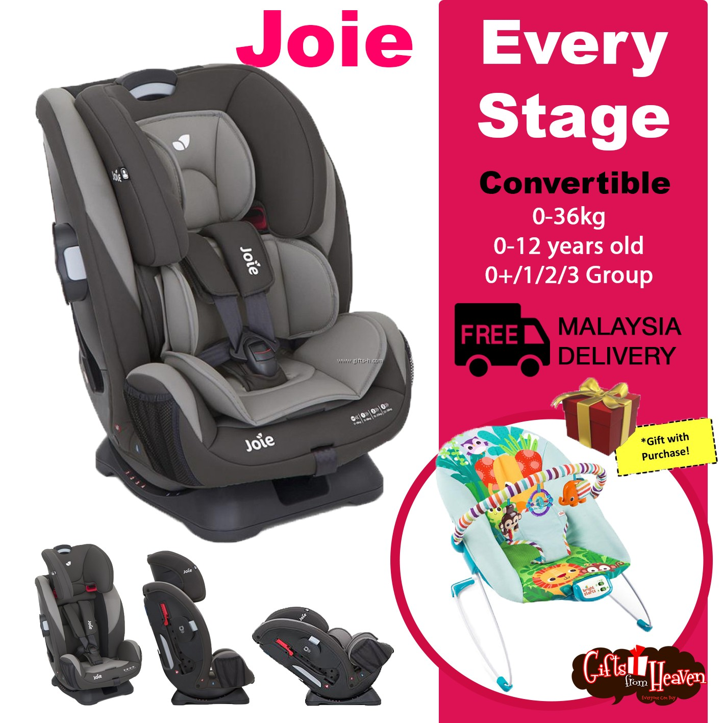 Stage 2 Car Seat With Base Joie Every Stage Car Seat Dark Pewter Free Bouncer