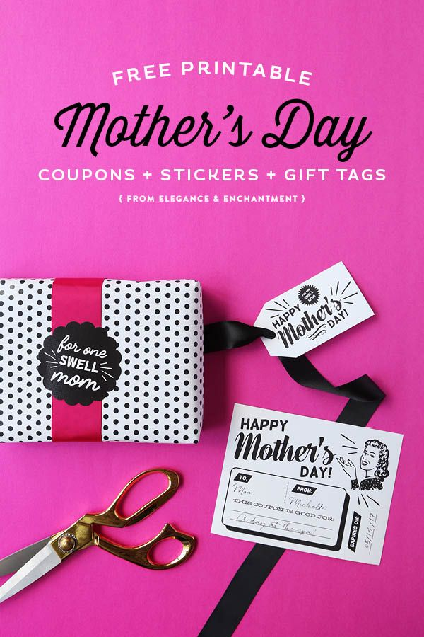 DIY Gift Wrapping Ideas  Celebrate Mother\u0027s Day with these free - diy printable coupons