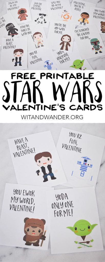 Valentines Day Gifts  Free Printable Star Wars Valentines Day Cards