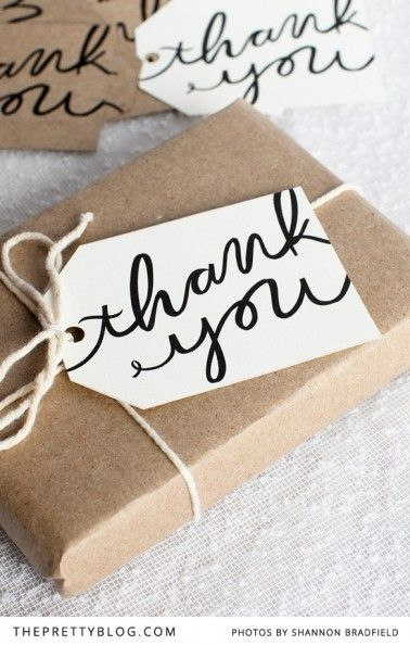 DIY Gifts Ideas  Free printable thank you gift tags, perfect for a