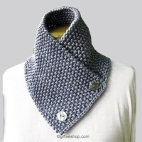Knitting Pattern Scarf Neck Warmer- Knit Mens Scarf ...
