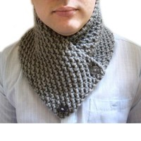 Knit Chunky Neckwarmer Cowl Neck Scarf , Scarf for Men ...