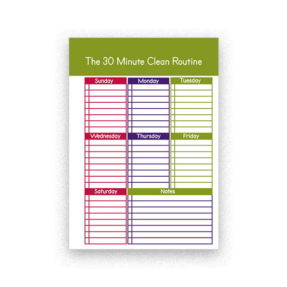 Weekly Cleaning Schedule Checklist Printable for Planner \u2013 Gifts shop