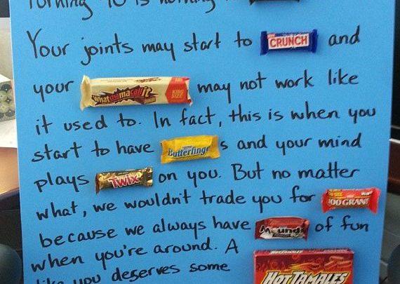 Birthday Gift Ideas  candy bar birthday poster - GiftsMaps