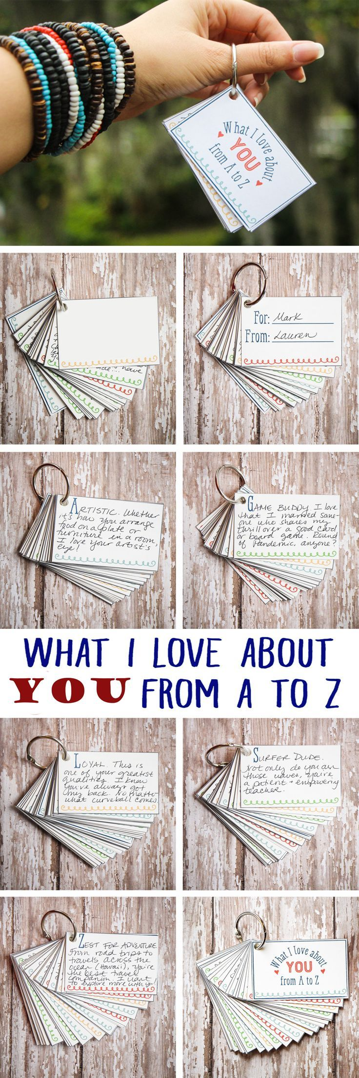 Diy Geburtstagsgeschenke Gifts For Him I Love About You From A To Z Mini Book Diy