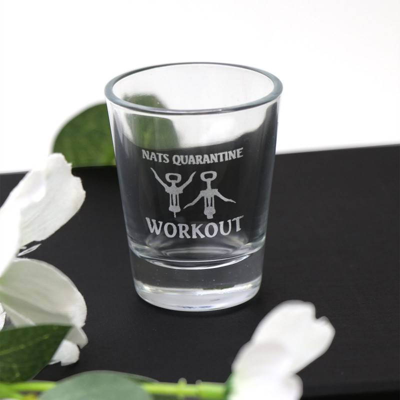 Baby Pram Gift Engraved 50ml Shot Glass Quarantine Isolation Gift