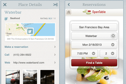 Evernote Food adds OpenTable integration and recipe sharing