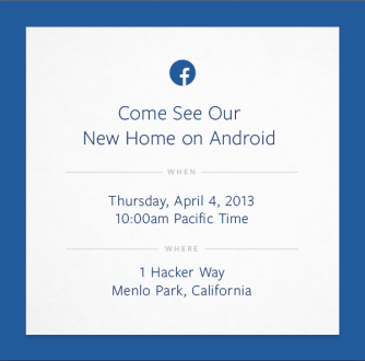Live blog: Facebook's new Home on Android