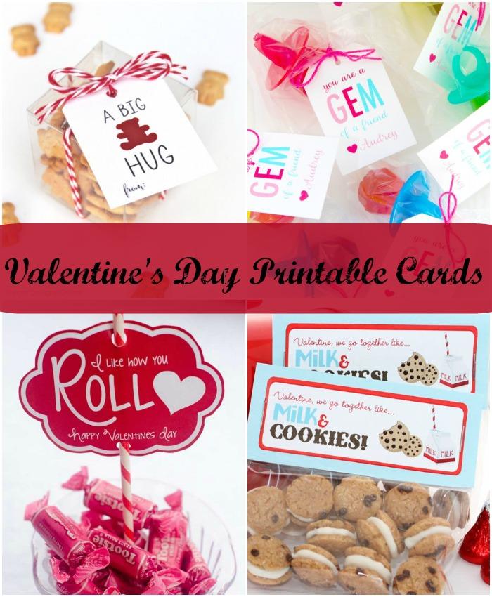Valentine\u0027s Day Printable Cards - Giggles Galore