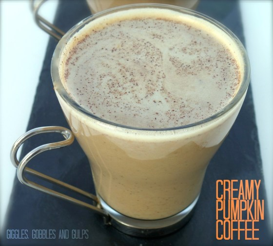 creamy pumpkin coffee